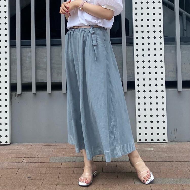 綿麻ステッチスカート